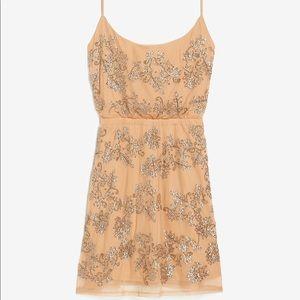 Sequin Embellished Cowl Neck Mini Dress